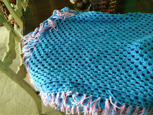 Afghan.  Beautiful pink and sky blue  $20.00 London Ontario image 1