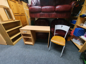 Desk and chair £45