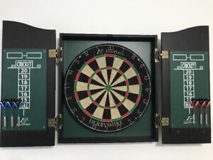 Professional dart board and cabinet. Eveything is included