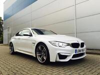 2014 14 BMW M4 3.0 DCT + **Mineral WHITE**+ RED LEATHER + HUGE SPEC + 1 OWNER