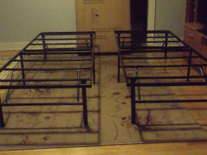 1 queen size frame OR 2 Single cots