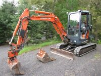 Wow private own , low hrs Kubota U-35 with cab