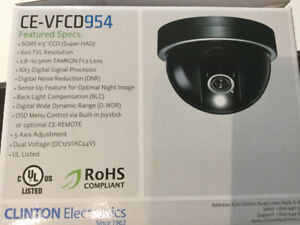 Clinton Electronics Security Camera, 3 Axis, 2.8-10.5 mm Lens