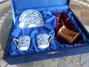 GURAL PORSELEN TURKISH COFFEE SET