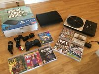 500gb SUPER SLIM PS3 CONSOLE with 8 GAMES Inc DJ HERO £70 no offers