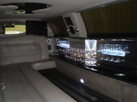 """2001 lincoln town car 120"""" stretch limo by tiffany 10 passenger"""