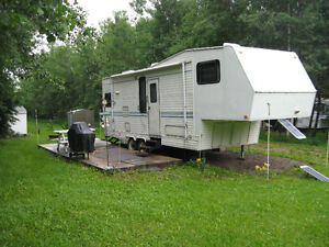 RV Site with 30ft 5th wheel