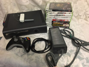 Xbox 360 Console Bundle 15 Games Wi-Fi Adapter