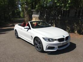 BMW 420d m sport convertible 2017/17 reg only 3,600 miles