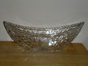 Crystal Fruit Bowl ...Oval Shaped :As Shown :Fruit,Candles,Candy