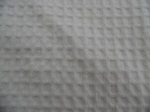 Cream Coloured Waffle Weave Shower/Bath Curtain