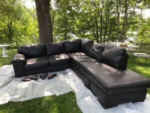 Bonded leather sectional $200- new price!