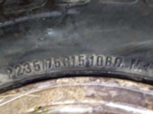 Studded Winter Tires on rims BF Goodrich