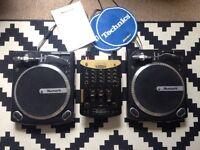 NUMARK DJ DECKS AND MIXER