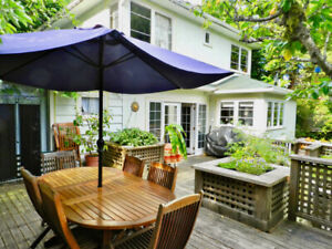 4 BR furnished house  for rent -Vancouver- July and August 2019