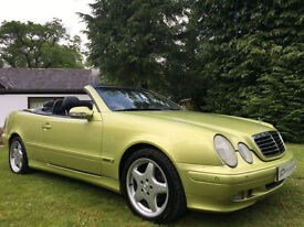 STUNNING SPECIAL ORDER MERCEDES CLK320 CONVERTIBLE DESIGNO PAINT ELEGANCE AMG