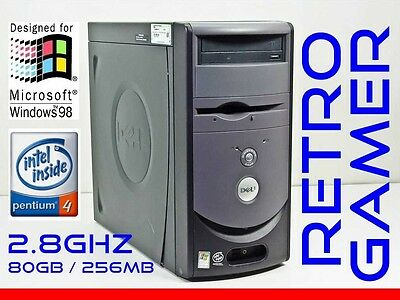 RETRO VINTAGE Dell Windows 98 SE / DOS Computer Pentium 4 Win98 WinNT NT 4.0 SP6