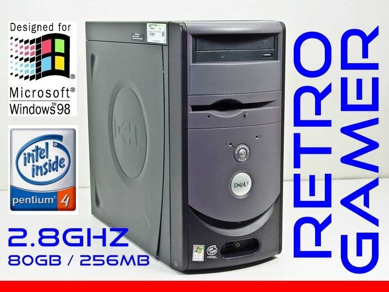RETRO VINTAGE Dell Windows 98 SE / DOS Computer Pentium 4 Win98 WinNT NT 4.0 SP6