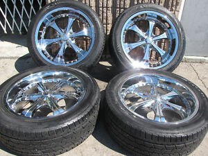"22"" VCT Scarface Crome Used Wheels For Escalade 905 463 2038"
