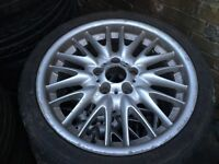 """BMW mv1 front alloy wheel and tyre 18"""" genuine 8j 225 40 18 e46"""