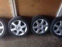 15 wolf race voodoo alloy wheels nearly new tyres