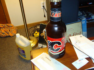 calgary flames beer bottle bank