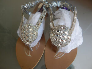 Girls silver fancy shoes brand new size 4 moving sale