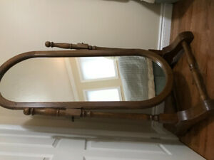 CUSTOM MADE SOLID OAK CHEVAL MIRROR MADE IN CANADA