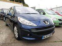 2007 57 Peugeot 207 1.6HDI 90 SE 5 Door Diesel Only 43,588 miles £30 Road Tax