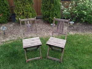 Set of Wood Folding Chairs from IKEA