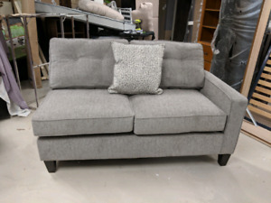 Grey sectional piece.