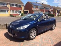 PEUGEOT 307CC 307 CC SUPER HOT CONVERTIBLE 1 YEAR MOT and Very Good condition with low mileage
