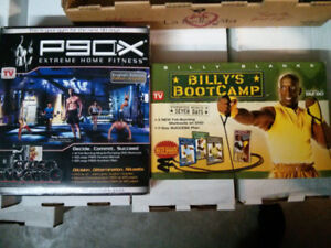 P90X dvd set and Billy's Boot Camp $20 for the pair