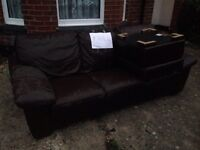 3 seater sofa and storage stool. **FREE**
