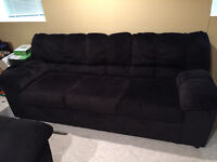 Lightly used NEW BLACK couches