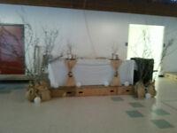 Burlap rustic wedding decorations