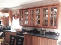 Maple kitchen cabinets and Granite counter top