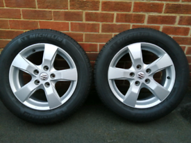 2 X 205/60/16 SUZUKI SX4 ALLOY WHEELS WITH MICHELIN TYRES IMMACULATE