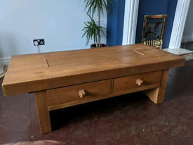Solid Pine Wooden Coffee Table