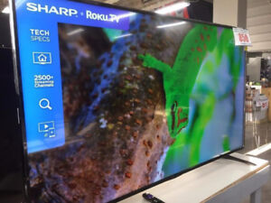"""SHARP 50"""" 4K UHD HDR LED Smart TV  +HDMI CABLES $400"""