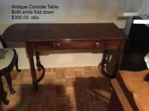 Antique Console Table (fold down ends)