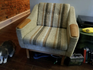 R. Huber & Co. Mid Century Modern Chair & Matching Sofa