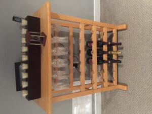 Maple IKEA Wine Rack Stand