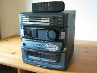 JVC 3 disc double tape deck and radio player