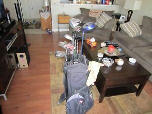 full set of golf clubs and bag