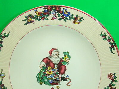 FITZ & FLOYD CHRISTMAS DISHES SANTA'S LIST 2 9