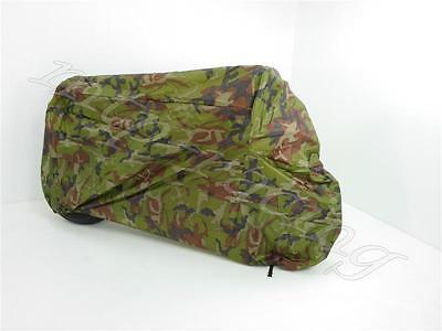 Abdeckplane Motorradgarage camouflage Größe XL 245 x 105 x 125cm