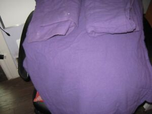 full/double 100% cotton, distinctly home bed sheets purple