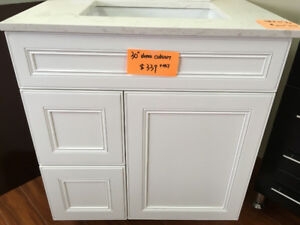demo solid wood vanity on sales! come and have a look!!