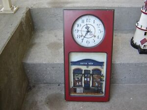CLOCK(BATTERY) WITH COFFEE SHOP BOTTOM